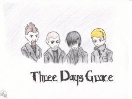 three days grace color by hardcorerocker117
