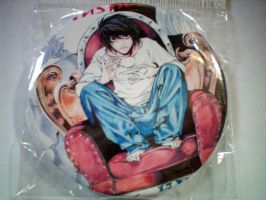 Death Note L 3-Inch Buttons For Sale by Shad0wKillr