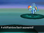 A Wild RainbowDash Appeared V2 by DMN666