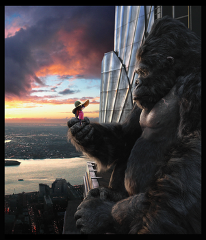 Judy Darrow and King Kong. by Through-the-movies