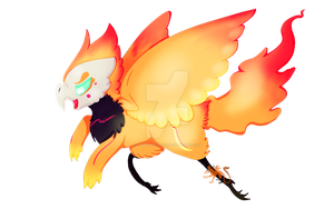 .:Com:. Flaming Chicken by VulpusGryphyx