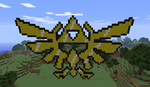 -Minecraft- Ttiforce zelda by wRkash77