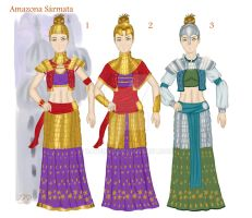 Sarmatian Amazons Costumes by XAVERIVS