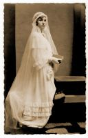 vintage - a bride by Meltys-stock