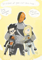 Slade and his Kiddies by RedUmbrellaMonster