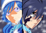 Juvia and Gray-Fairy tail ch.498 by parokas