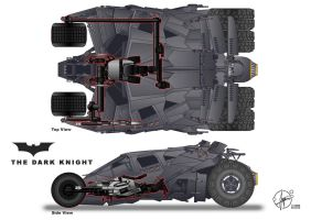 Batpod inside Tumbler by Paul-Muad-Dib