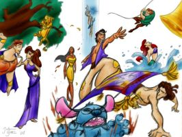 Disney Sketch Dump Color by vanillacoke-disney