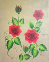 Red roses by carmina04