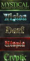 Mystical PS Text Effects 1 of 5 by GraphicAssets