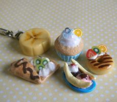 Sweet Mini Food Charms by Fimochu
