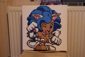 Darkstalkers Felicia, Hama Beads by hairybeny