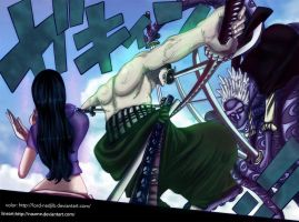 Zoro vs Hyouzou by Lord-Nadjib