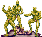 Bodybuilders and babies by imadering