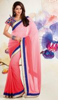 Pale-Salmon-Faux-Georgette-Saree-FD-1754-38196 lar by ethniclover
