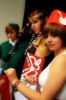 Link, Zelda and Postgirl by SparklesStorm