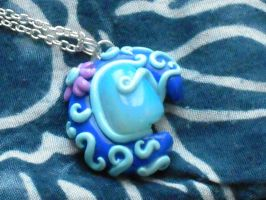 Fimo blue moon by REDDISH-MUSE