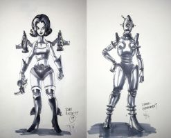 CHARACTER SKETCHES - ATOMIC PUNK STYLE by ugurbs