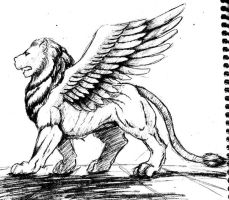 Winged Lion by RosmaZeppelin