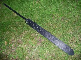 Black guitarstrap by Sharpener