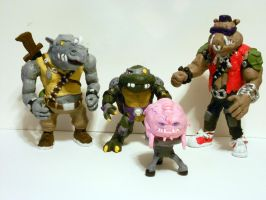 1987 TMNT Bad Guys so far by Eric--Draven