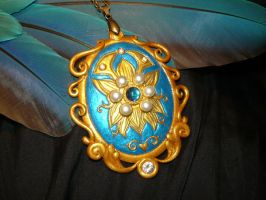 ChronoCross -The Memento Pendant - handmade Locket by Ganjamira