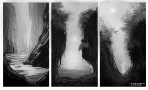 Landscape paintings Practice by Baranha