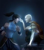 korra and aang by drchopper7
