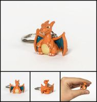 Teeny Tiny Charizard Charm by WispyChipmunk