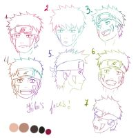 Tutorial Kiba faces by lazycreator