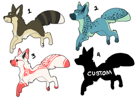 Adoptable Fox/Wolves 1 by MellyMill