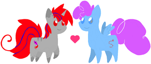 Two Little Ponies by pupom