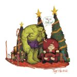 Hulk Sit on Santa by deadlymike