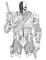 Deathstroke digital sketch by SLewis18