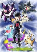 My Team Rocket dream team by SnappySnape
