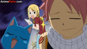 Lucy Does Not Look Pleased... (Fairy Tail) by Puffypaw