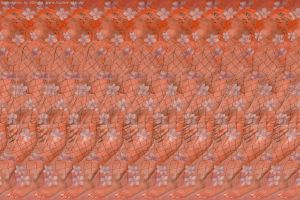 Girl in Flowers. Stereogram by 3Dimka