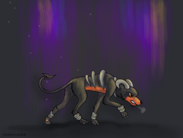 Houndoom Stalk by Kosmotiel