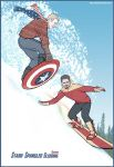 Stark Spangled Sledding by karadin