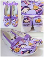Lilac Kitty Moccasins by ponychops