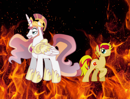 The Fall Of Sunset Glare. by catdragon4