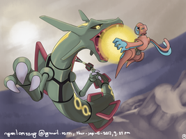 Rayquaza - deoxys - pokemon