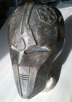 Sith Acolyte mask aged-painting by WulWhite