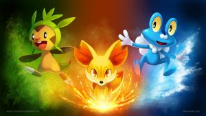 [Wallpaper] Pokemon X/Y Starters