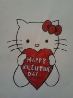 Happy Valentine's Day from Hello Kitty by nytito