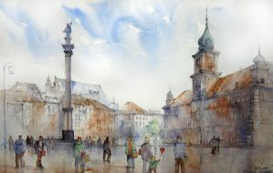 Castle Square, Warsaw by Kot-Filemon
