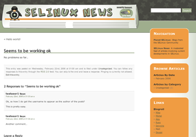 SELinuxNews.org Site Template by pookstar