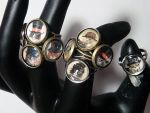 Steampunk Cat Rings in Brass and Silver by LadySashaviv