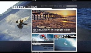 SurfCentral Webdesign by brandonseaber