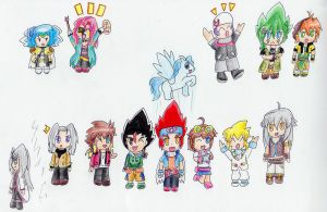 Chibi Metal Fight Beyblade Characters by IperGiratina98